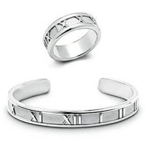 Tiffany & Co Altas Open Bangle/Ring Set